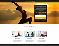 Yoga Landing Page Template With Free Landing Page Build