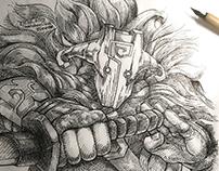 INKtober #14 (Fierce) (2k18)