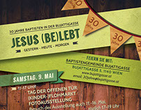 Flyer for a church anniversary festival in German