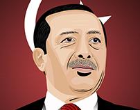Recep Tayyip Erdogan Vector Art