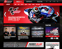 Sepang International Circuit - Web Design 2012