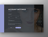 Account settings online