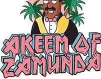 AKEEM of ZAMUNDA logotype