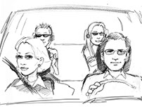 Storyboards - The Joneses - Feature Film