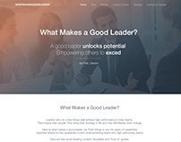 Trainings - What Makes a Good Leader?