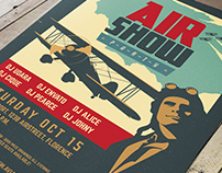 Vintage Air Show Party Flyer