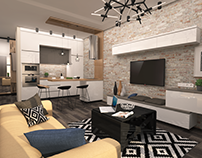 Functionality interior design for the apartment