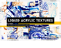 Liquid acrylic textures / Blue & Yellow colors