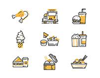 Fast Food Yellow Shadow - Enjoy Eating