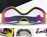 Augmented Reality Fitness Goggles Concept