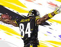 Adobe DRAW : NFL series - Antonio Brown