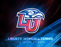 2018 Liberty Women's Tennis Season Branding