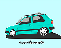 VW GOLF MK2 #euroelements