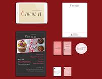 Criação de Identidade Visual para Chocolat Confeitaria
