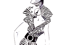 Woman in zebra print
