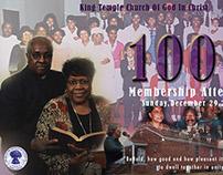 King Temple C.O.G.I.C Membership Attendance Banner