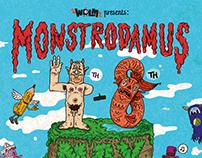 We dance like monsters - Monstrodamus exhibition invite