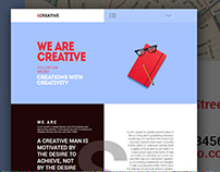 Free: SCreative – Modern Creative PSD Template