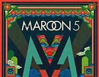 Maroon 5 2019 Korea Tour Special Poster