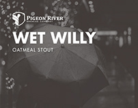 Pigeon River Wet Willy Oatmeal Stout Identity
