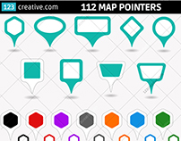 Map pointer vectors (round, rectangle, hexagon, square)