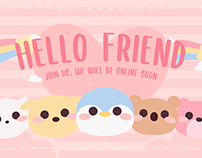 Cute Friends Twitch Overlay Stream Package 2021
