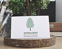 Active Garden solutions logo and business card