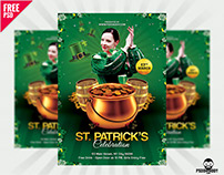 St. Patrick's Celebration Flyer Free PSD