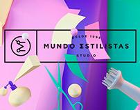 Mundo Estilistas. Corporate identity.