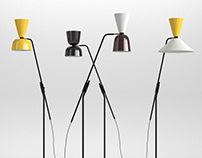 Hem Alphabeta Floor Lamp - 3D model