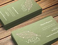 Логотип и визитки для VEGA FOOD