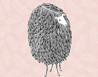 curly sheep illustration