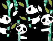 Panda pattern bag