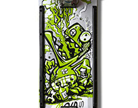 Burpmonster Skateboard Deck Illustration
