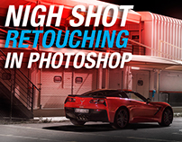 retouching a car night shot.