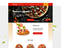 Freshly Baked Pizza website concept