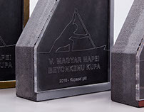 Trophies for the Hungarian Concrete Canoe Cup