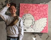 "ZKH painting ""My gangsta angel"". 👑"