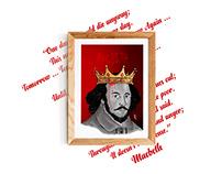 William Shakespeare and macbeth poster desing