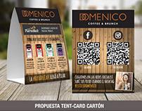 Domenico Coffeee & Brunch - Tent-card con promociones