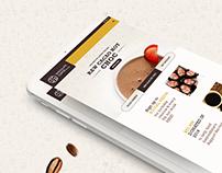 CHOCOLATE COFFEE | COFFEE SHOP WEBSITE DESIGN 2016