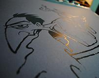 Handmade silkscreen printing