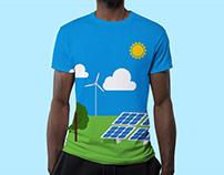 T-Shirt design - Solar Farm