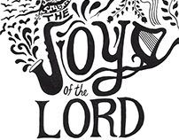 Calligraphy artwork The joy of the Lord is my strength