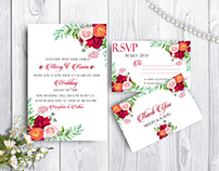 Wedding invitation PSD Mockup