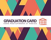 Graduation card / SSOŠ Postupimská 37 Košice