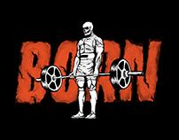 Born Fitness - Ilustração de estampas