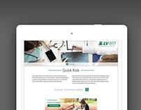 UI, UX, Screendesign der Webapp Quick Risk - LV 1871