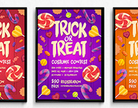Candy Trick or Treat Halloween Poster