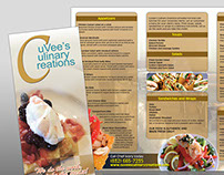 CuVee's Culinary Creations Brochure Design